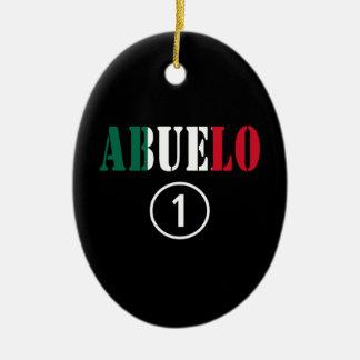 Mexican Grandfathers : Abuelo Numero Uno Christmas Ornaments