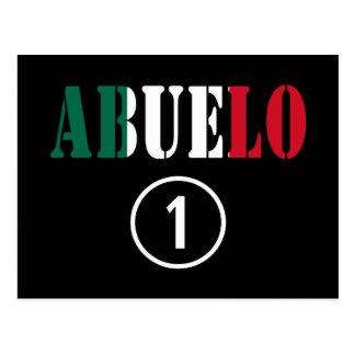 Mexican Grandfathers : Abuelo Numero Uno Postcard