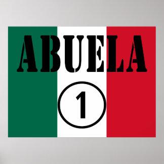 Mexican Grandmothers Abuela Numero Uno Poster