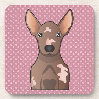 Mexican Hairless Dog Cartoon Beverage Coasters