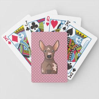 Mexican Hairless Dog Cartoon Poker Deck