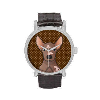 Mexican Hairless Dog (Xoloitzcuintle) Wristwatches