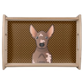 Mexican Hairless Dog Xoloitzcuintle Serving Trays