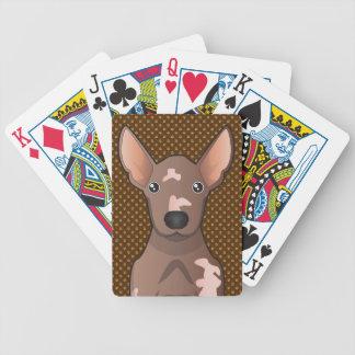 Mexican Hairless Dog (Xoloitzcuintle) Poker Deck