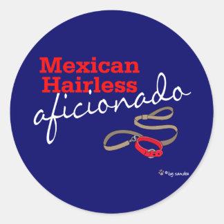 Mexican Hairless Round Sticker