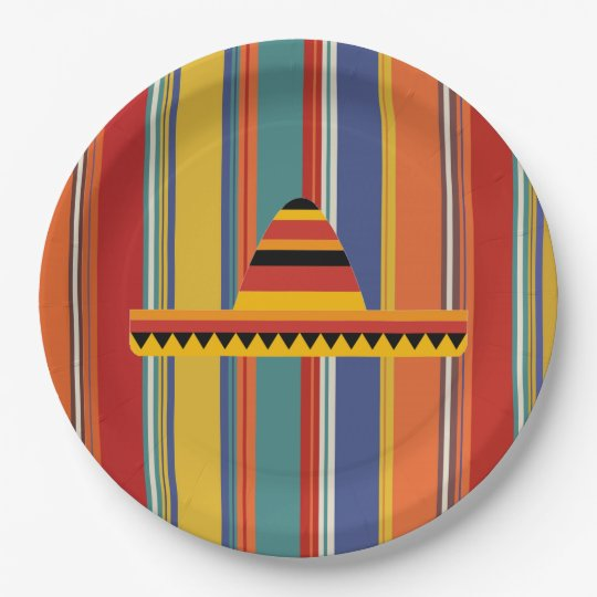 Mexican Hat Dance HHM Party Paper Plates