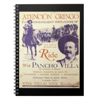 Mexican Hero General Pancho Villa Notebooks