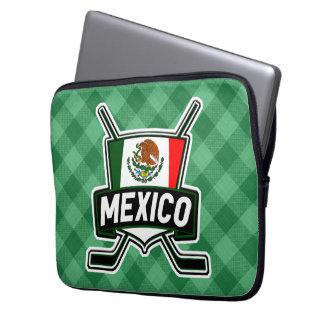 Mexican Ice Hockey Flag Cover Laptop Sleeve