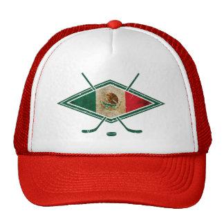 Mexican Ice Hockey Flag Trucker Hat