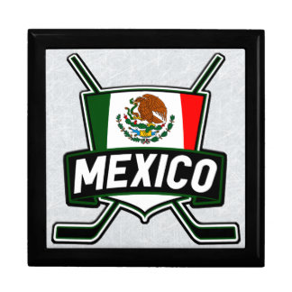 Mexican Ice Hockey Flag Tile Box