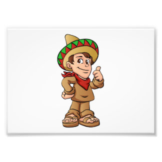 mexican kid cartoon. art photo