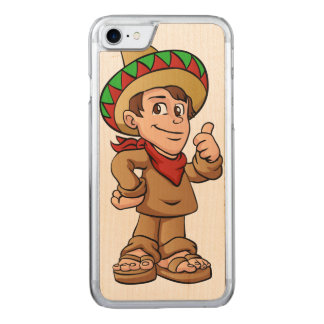 mexican kid cartoon. carved iPhone 8/7 case