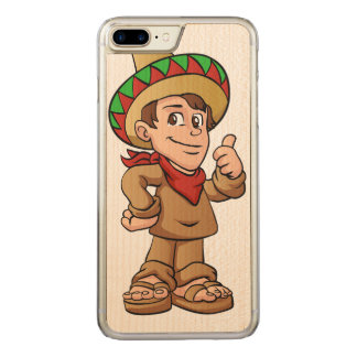 mexican kid cartoon. carved iPhone 8 plus/7 plus case