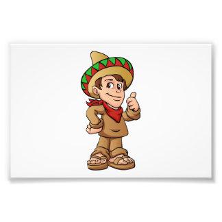mexican kid cartoon. photo
