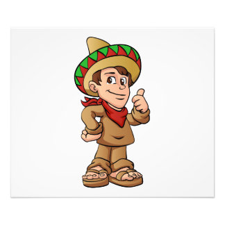 mexican kid cartoon. photographic print