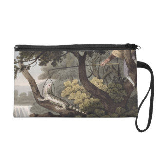 Mexican Lizard Catcher, engraved by Matthew Dubour Wristlet Clutch