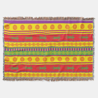 Mexican Lizard Pattern Throw Blanket