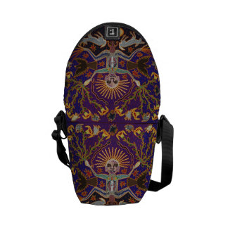 Mexican Mayan Aztec Goddess Ethnic Tribal Art Boho Courier Bag