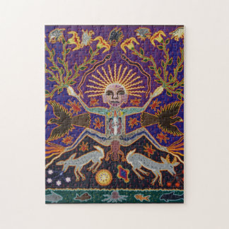 Mexican Mayan Aztec Goddess Ethnic Tribal Art Boho Jigsaw Puzzle
