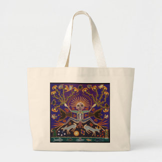 Mexican Mayan Aztec Goddess Ethnic Tribal Art Boho Jumbo Tote Bag