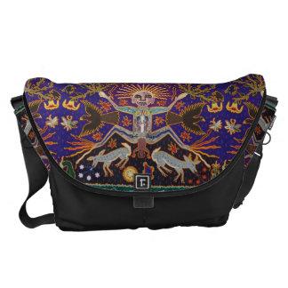 Mexican Mayan Aztec Goddess Ethnic Tribal Art Boho Messenger Bags