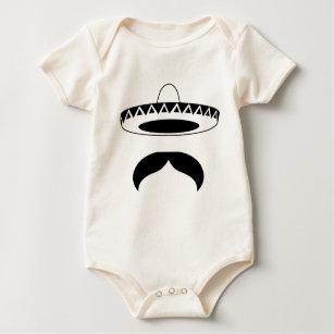 mexican moustache baby bodysuit