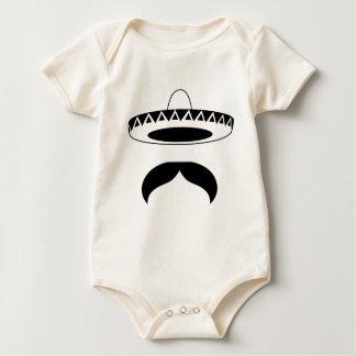 mexican mustache baby bodysuit