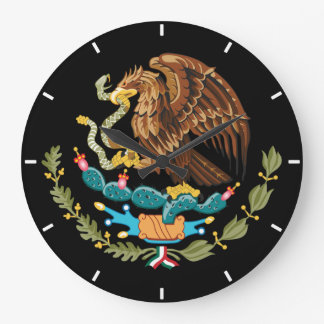 Mexican National Pride Coat of Arms Wall Clock