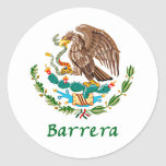 Mexican National Seal Round Sticker