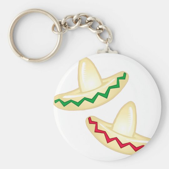 Mexican Party Icons Basic Round Button Key Ring