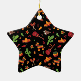 Mexican pattern christmas ornament