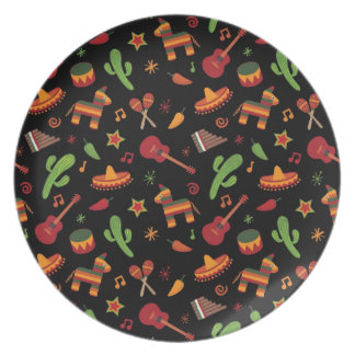 Mexican pattern plate