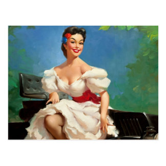 Mexican Pin-Up Girl Post Card
