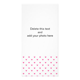 Mexican Pink Glitter Hearts Pattern Photo Greeting Card