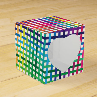 mexican plaid seamless background wedding favour box