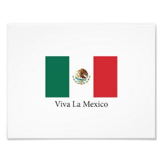 Mexican pride Flag Viva la Mexico Photographic Print