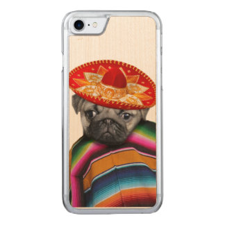 Mexican Pug Dog Carved iPhone 7 Case