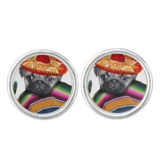 Mexican Pug dog Cuff Links