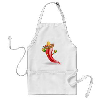 Mexican Red Chilli Pepper Character Standard Apron