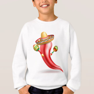 Mexican Red Chilli Pepper Character Sweatshirt