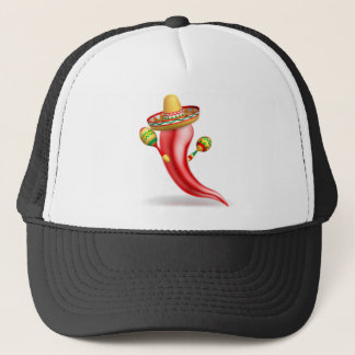 Mexican Red Chilli Pepper Character Trucker Hat