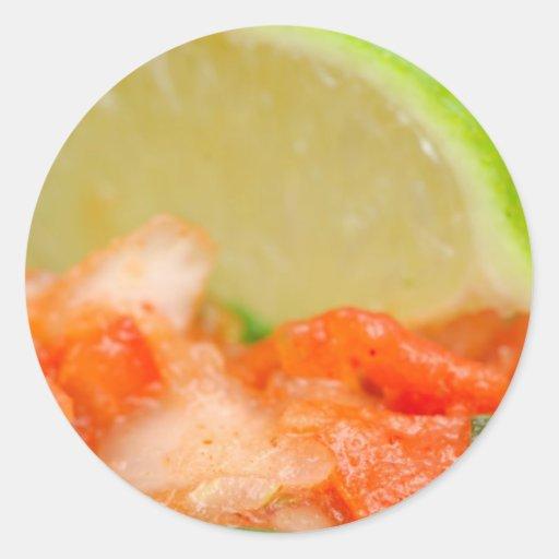 Mexican Salsa Round Sticker