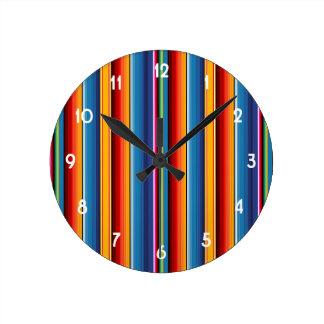 Mexican Sarape Round Clock