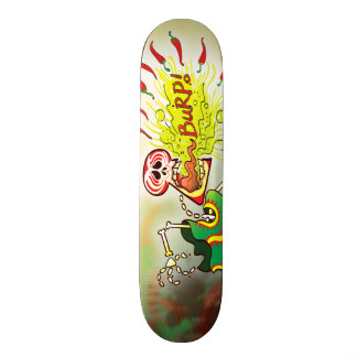 Mexican Skeleton Burping Hot Chili Peppers Skate Board