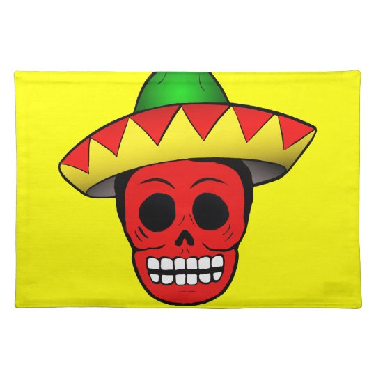 Mexican Skull Design Place Mats