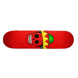Mexican Skull Design Skateboard Deck