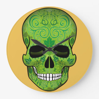 Mexican Skull Large Clock