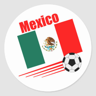 Mexican Soccer Team Classic Round Sticker