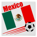 Mexican Soccer Team Poster