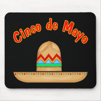 Mexican Sombrero Cinco de Mayo T-shirts and Gifts Mouse Mats